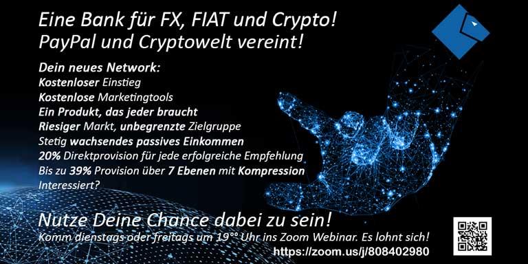Einladung – Eine Bank, Krypto und FIAT vereint!